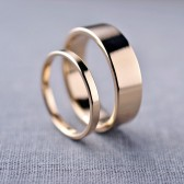 2mm and 6mm 14K Gold Wedding Bands