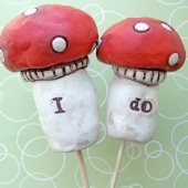 Red Mushroom Cake topper