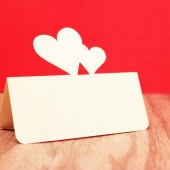 Double Heart Place Cards