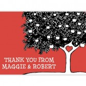 Red Tree Thank You Cards