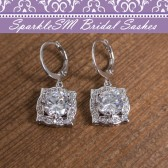 Wedding Earrings, SparkleSM Bridal, Cole