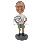 Just Chilling Dude in Shorts Custom Bobblehead