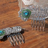 Peacock Hair Combs