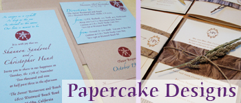 handmade wedding papercakedesigns California Handmade Vendors