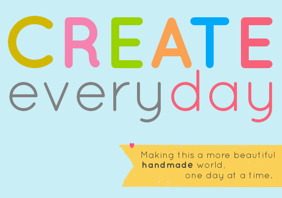 handmade pledge to create every day