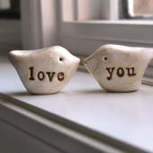 "Wedding cake topper ...""love you"""