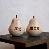 "Wedding cake topper ...""mr mrs"" pears"