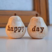 "Wedding cake topper...""happy day"" pears"