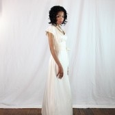 Sheer Back Wedding Dress with sleeves made of 100% silk, ethically sourced