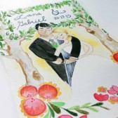 Custom Watercolor Wedding Portrait