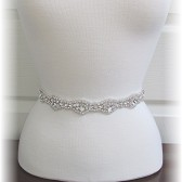Bridal Sash, Crystal Rhinestone Wedding Dress Sash, custom ribbon colors