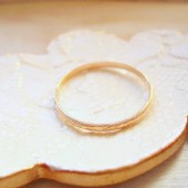 Gold Textured Wedding Ring