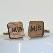 Custom Engraved Wooden Cufflinks