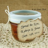 Spread the Love Customized Wedding Favor Tags