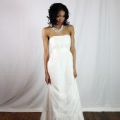 Wedding dress with Fair Trade silk and European silk tulle