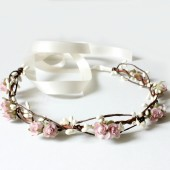 Bohemian Soft Pink Floral Crown