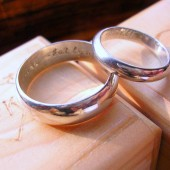 His & Hers Sterling Silver Wedding Rings