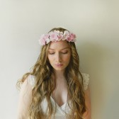 Blush Silk Flower Headpiece - style 008