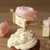 Rustic cupcake toppers with small tags