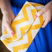 Yellow Chevron Clutch