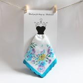 Embroidered Monogrammed Floral Hanky