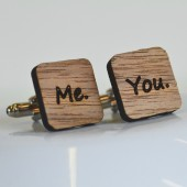 Me. You... Wooden Cufflinks
