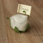 Rustic rose place card holder