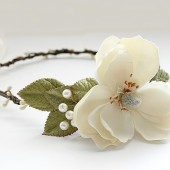 Gardenia Flower Crown