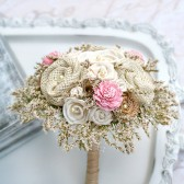 Small Bridesmaids Pink Rustic Bouquet