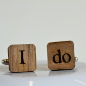 I do. Wooden Cufflinks