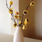 Designer Yellow Fabric Flowers with stems Handmade weddings headband decoration Home decor Filler flowers bouquet