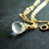 Rock Crystal Delicate Gold Necklace
