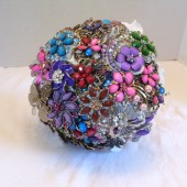 Jeweled Brooch Bouquet