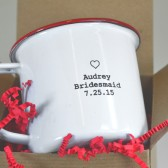 Custom engraved enamel mug