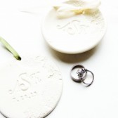 Monogram Personalized Wedding Ring Holder Monogrammed Ornament Ring Bearer Bowl Dish Plate Unique Wedding Gift Combo Set
