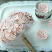 Small Blush Pink Heirloom Bride\'s Bouquet
