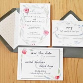Hand-Painted Save the Dates
