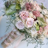 Handmade Pink Rose Wedding Bouquet