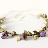 Purple Gold Floral Crown