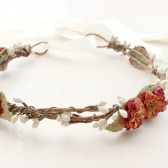 Orange Rust Floral Crown