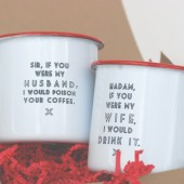True Love... enamel mugs (pair)