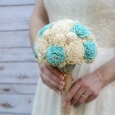Aqua & Ivory Sola Flower Bouquet