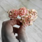 Pink and Gold Rose Hair Pins