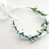 Blue Blossoms Floral Crown