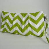 Lime Chevron Catalina Clutch