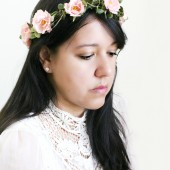 Pink Roses Bridal Floral Crown