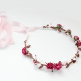 Pink and Brown Flower Crown