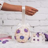 Lilac flower ball Purple rose ball Flower girls Ceremony decorations Lavender pomander Flower girl pomander Party decorations Wedding piñata