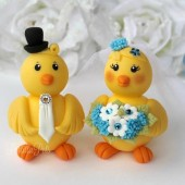 chick cake topper, love bird cake topper, wedding cake topper, custom cake topper