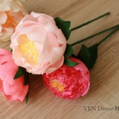 Paper peonies in custom colors